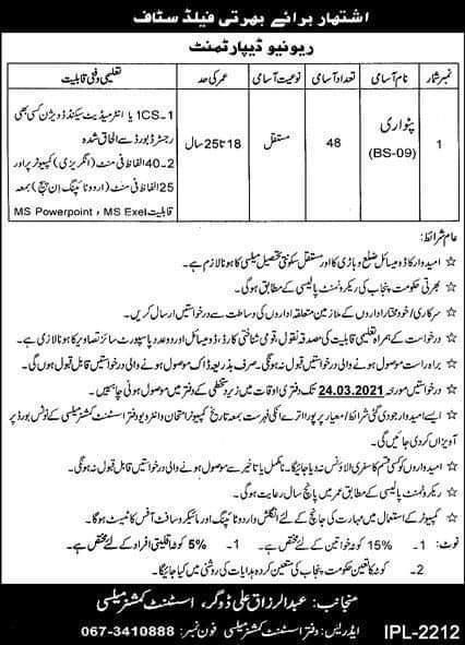 Patwari-Jobs-in-Khanewal-2021